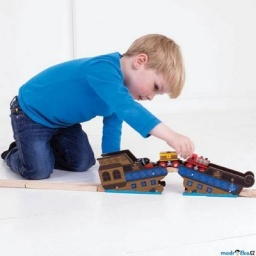 Bigjigs Rail Most vrak lodi 1.jpg